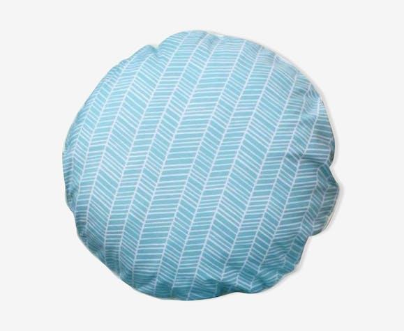 Coussin menthe motif chevron 40x40 cm