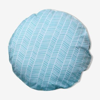 Pillow Mint motif chevron 40 x 40 cm