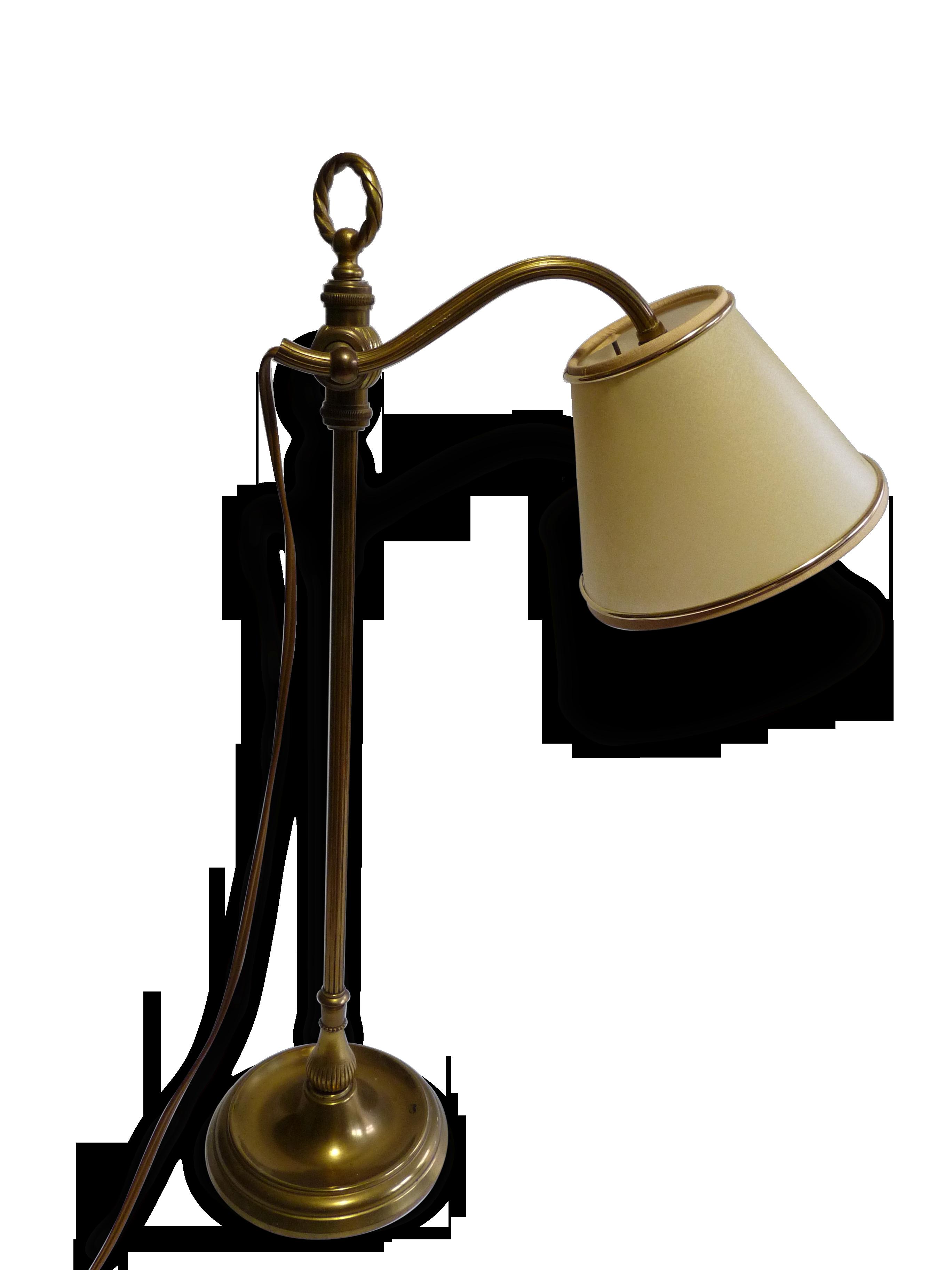 Lampe decorative de bureau en laiton