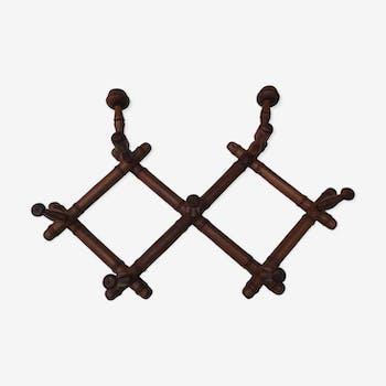 Porte manteaux extensible en bois