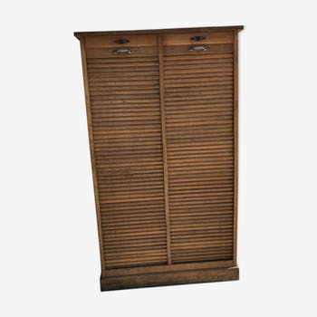 Notary furniture cabinet with curtains