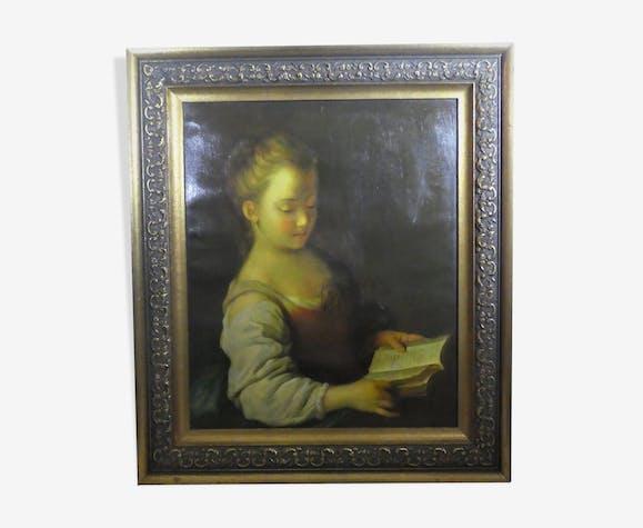 Portrait d'une jeune liseuse