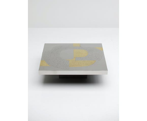 Table basse conçue par Fernand Dresse 1970