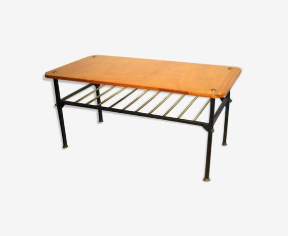 Coffee table in metal and wood 50/60