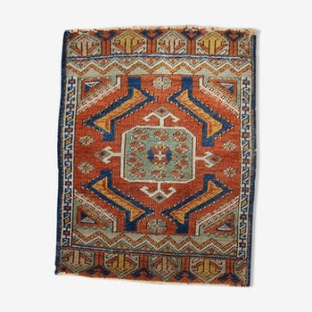 Old rugs Turkish made Yastik hand 54cm X 60 cm