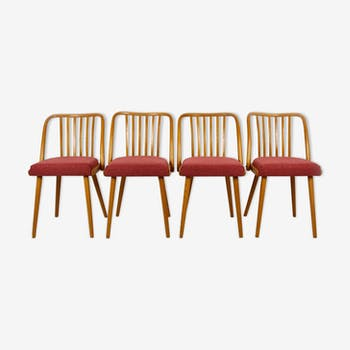 Set of 4 dining chairs by Antonin Suman for Ton, 1966