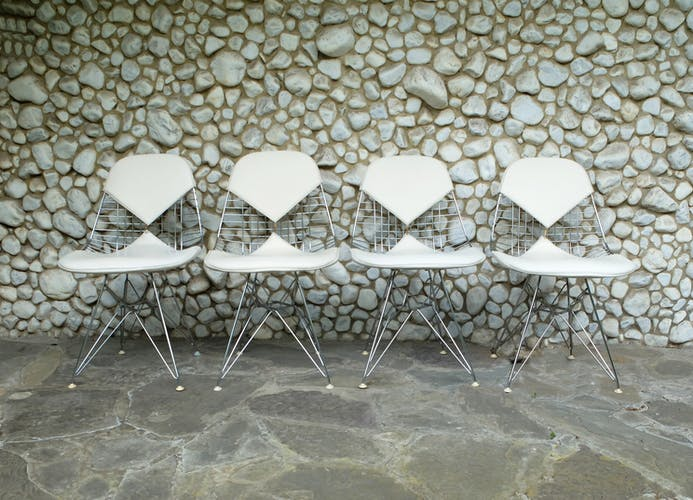Chaises DKR Wire-Chairs Bikini, Charles & Ray Eames pour Herman Miller 1960