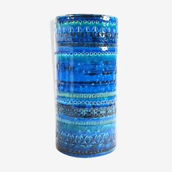 Vase cylindre, bleu / bleu, bitossi, aldo londi conception