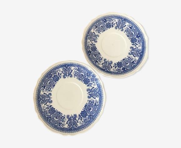 Duo d'assiettes en porcelaine