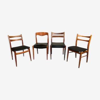 Lot de 4 chaises dépareillées scandinave