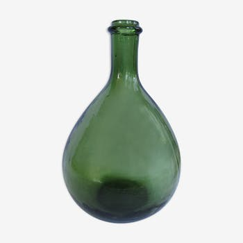Dame Jeanne bonbonne en verre vert 3 litres