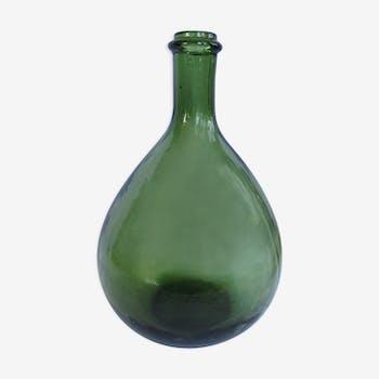 Demijohn green 3 litre glass bottle