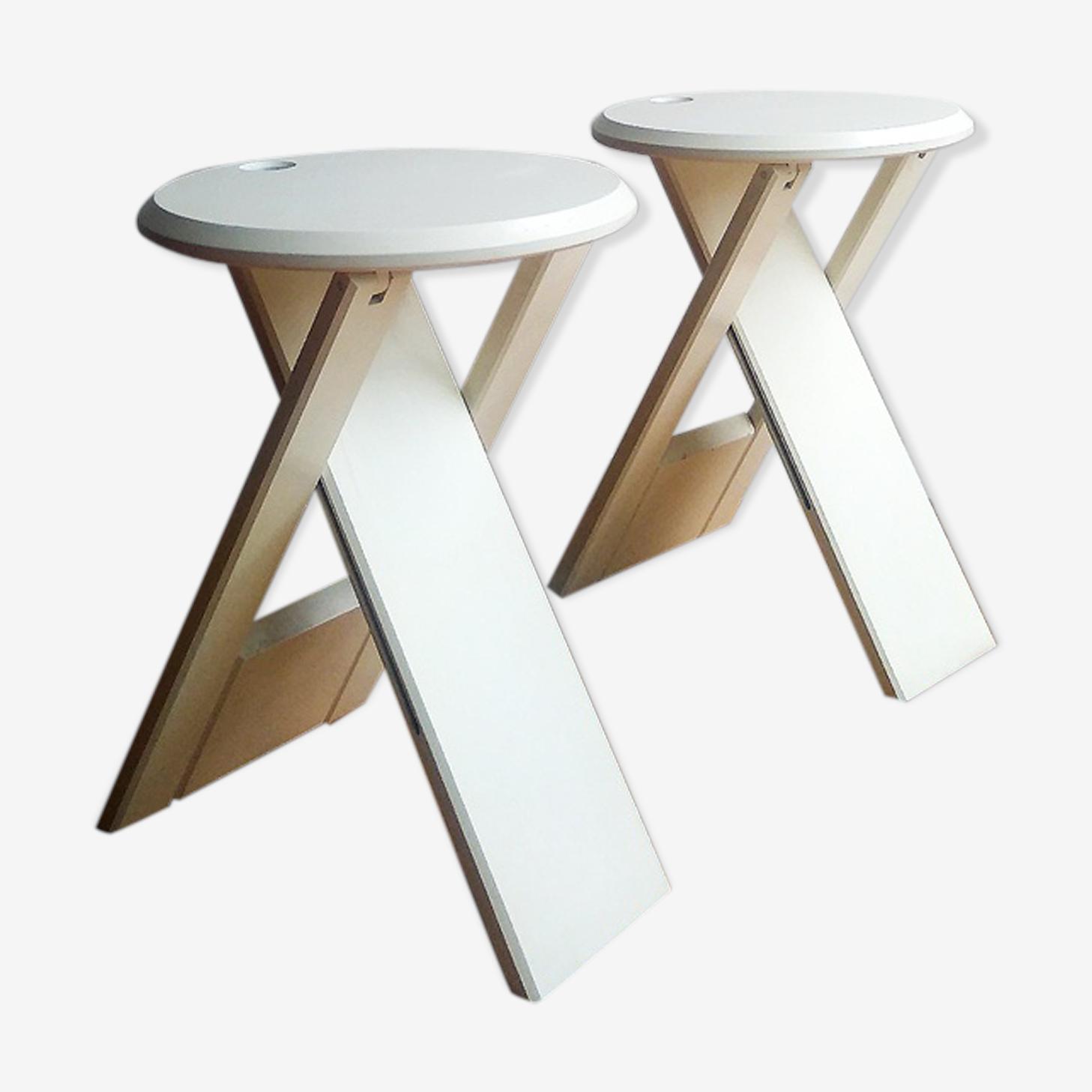 Tabourets pliants design Adrian Reed 1980