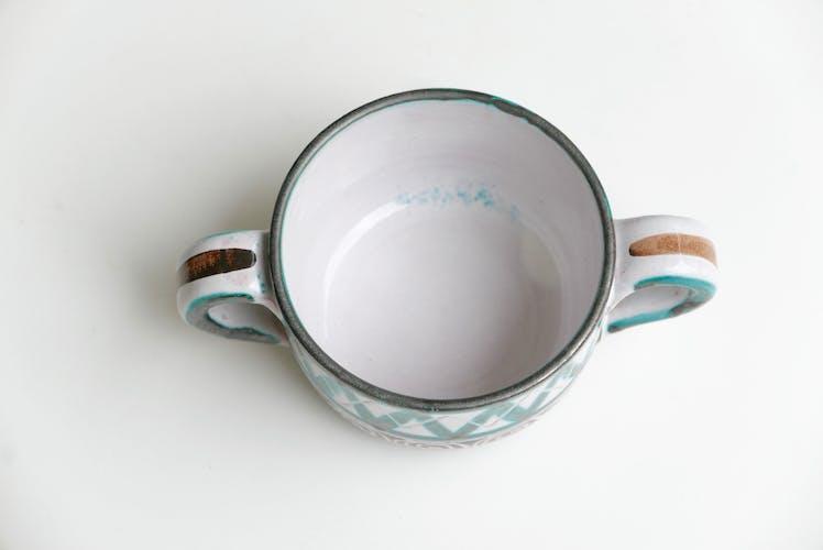 Pot couvert à anses de Robert Picault, Vallauris années 60