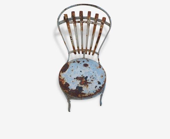 Lot de 4 chaises en fer forg son jus pour le jardin - Chaise en fer forge pour jardin ...