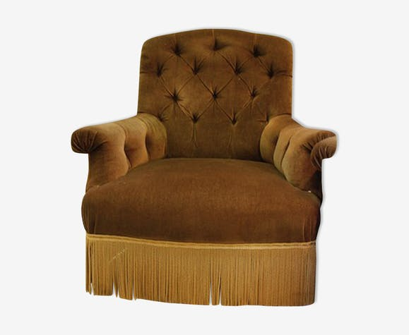 Velvet armchair, 20th century