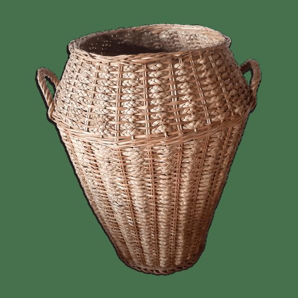 L Anfora Rattan Amphoren Lounge.Vintage Wicker Amphora And Braided Raffia Selency