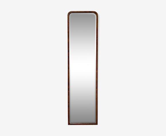 Miroir art deco cadre en bois 124x33cm