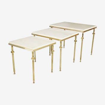 Tables gigognes de style néo classique années 70