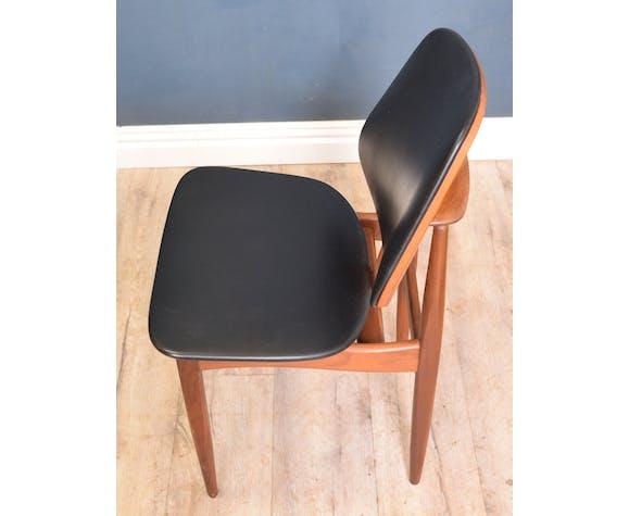 Chaises de salle à manger en teck de style danois par Elliot de Newbury