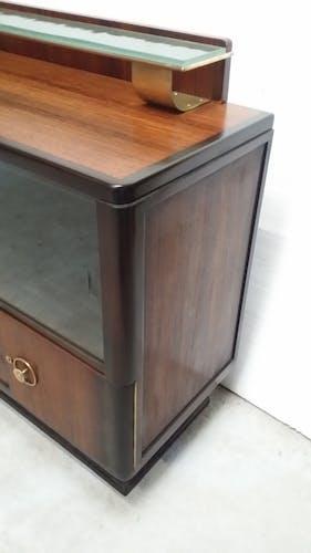 furniture / art deco Cove rosewood display case