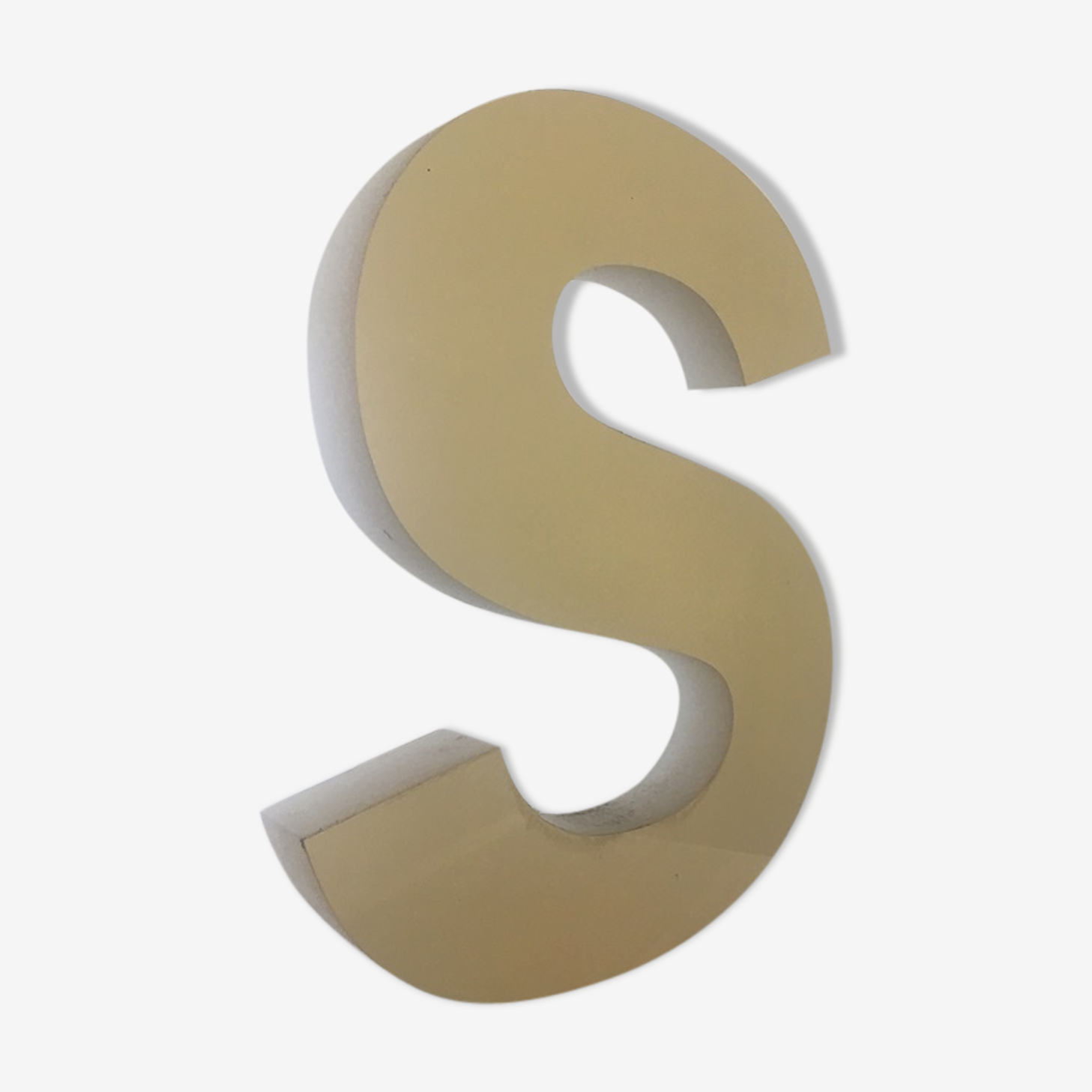 Bright letter s