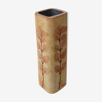 Vase à décor de fougères Raymonde Leduc