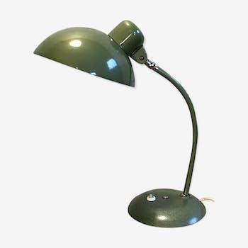 Lampe de bureau industriel vert vintage des années 1950