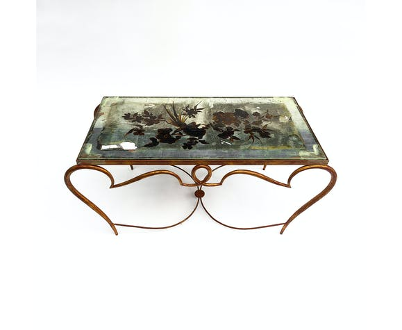 Rene Drouet Gilded Cocktail Coffee Table Art Deco