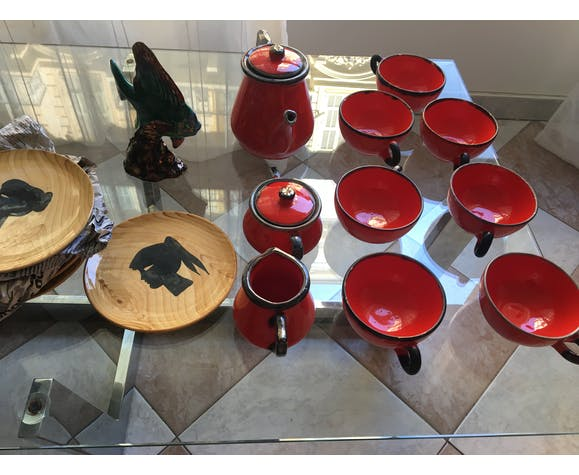 Lot de 10 jolies assiettes vintage Grandjean Jourdan Vallauris