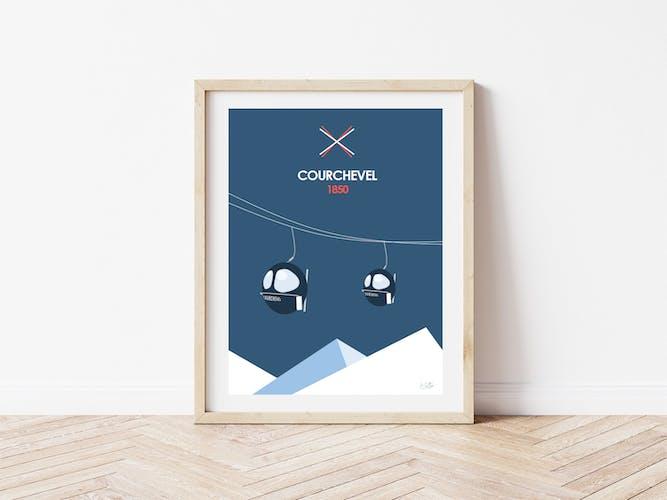 Illustration Courchevel - A3