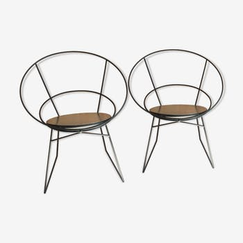 Pair of designer chairs from the 1950s