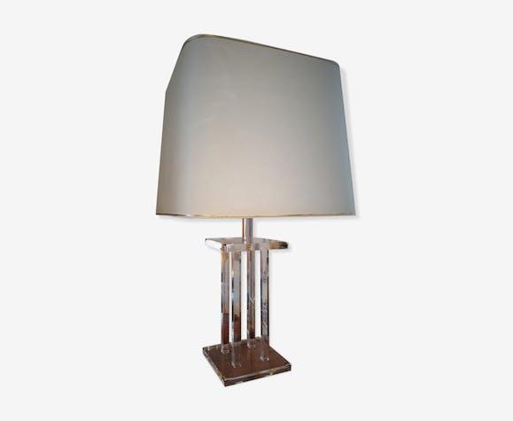 lampe en plexiglass roche bobois ann es 70 plexiglas transparent vintage v4vfirf. Black Bedroom Furniture Sets. Home Design Ideas