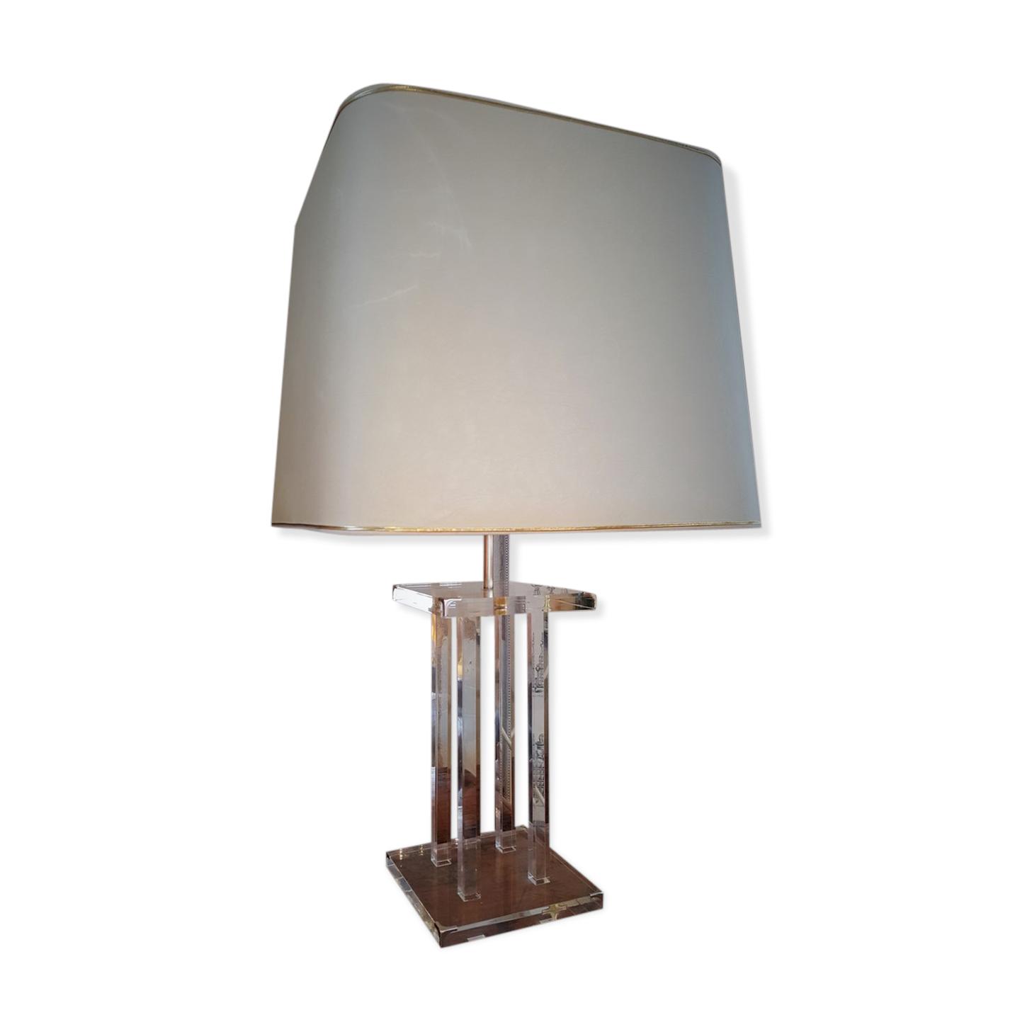 Lampe En Plexiglass Roche Bobois Années 70 - Plexiglas