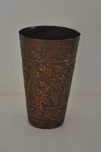 Vase copper ethnic vintage