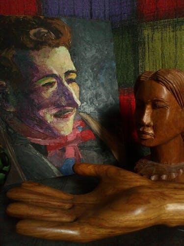Peinture portrait d'un Dandy à l'huile sur bois