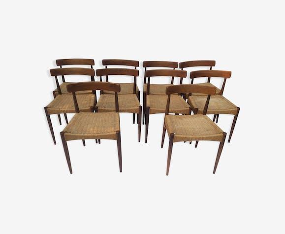 Set de 10 chaises de salle a manger