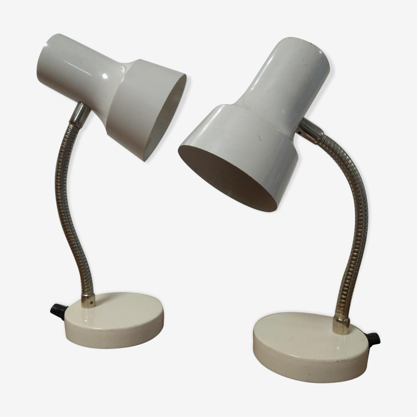 Paire de lampes Veb Narva