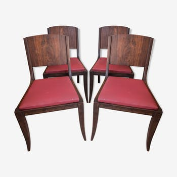 Suite de quatre chaises art déco