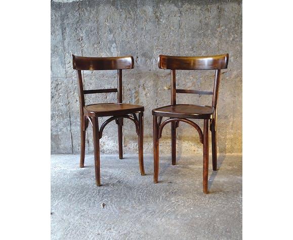 Lot de 4 chaises bistrot 1930