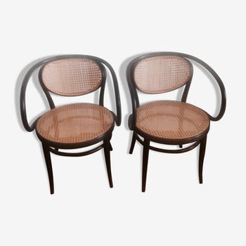 Pair of Thonet 210 R armchairs unknown edition