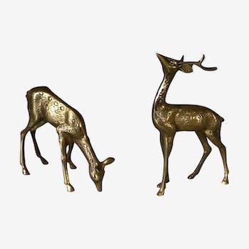 Couple of brass deer