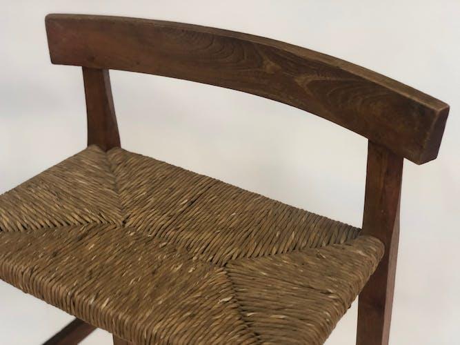 Tabouret de bar bois minimaliste années 40-50