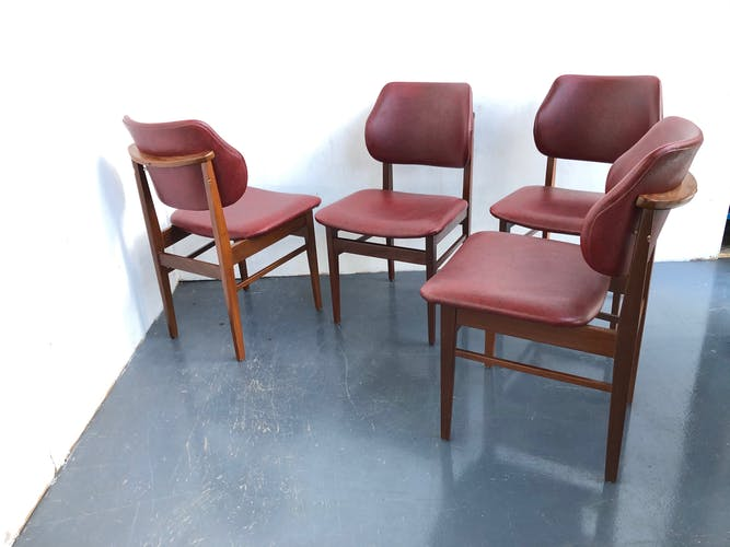 4 chaises à manger des années 50