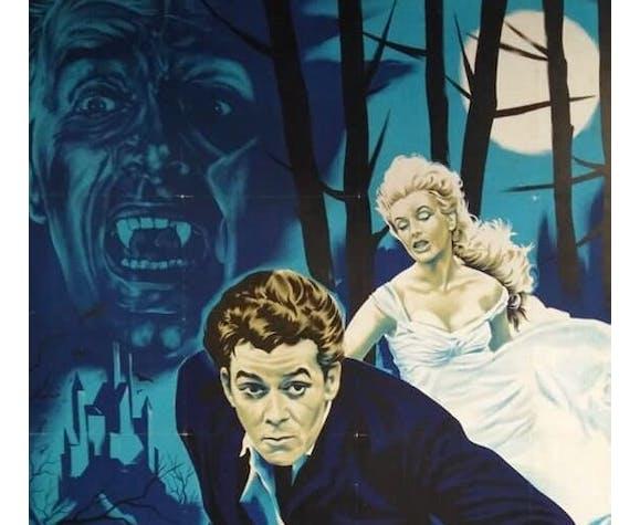 Affiche originale 1962 le baiser du vampire 120x160 cm entoilée Hammer