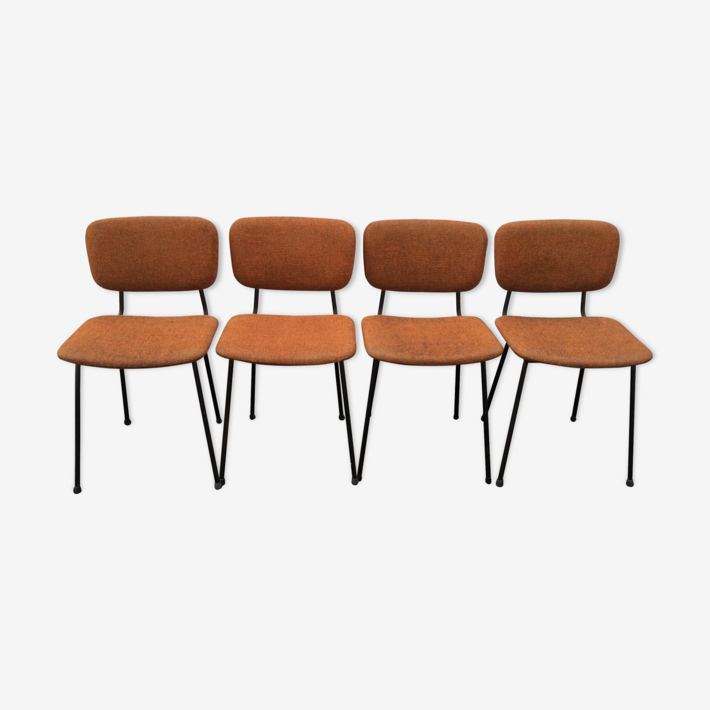 Vintage chairs with metal and fabric structure