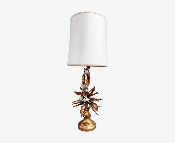 De Florale Vintage Table Métal CruAnnées Doré 60 Lampe QeEBWCdrxo