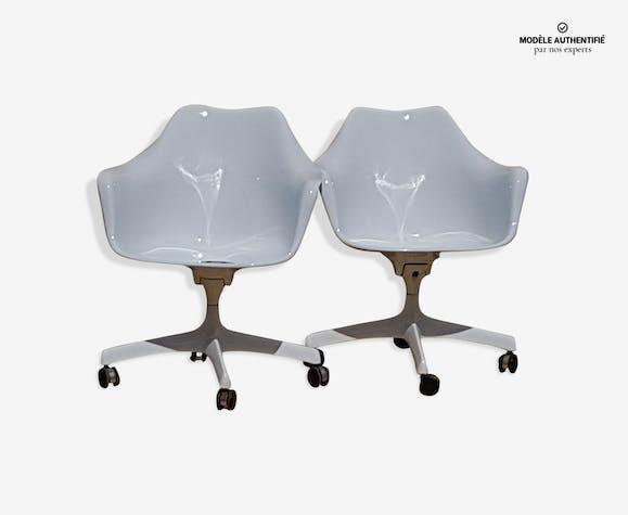 Fauteuils Executive Tulipe par Eero Saarinen editeur Knoll