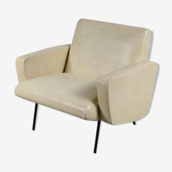 Armchair in leatherette 50s