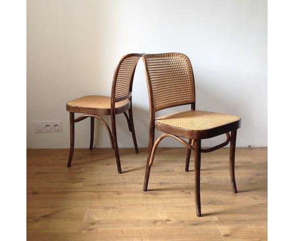 4 chaises 811 Hoffman Thonet